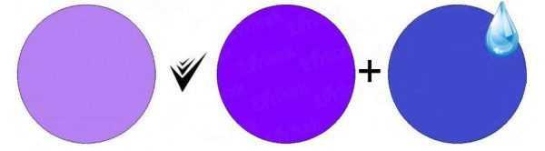 Сиреневый цвет можно получить смешав фиолетовый с холодным синим