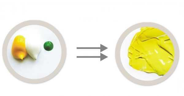 Получение краски лимонного цвета