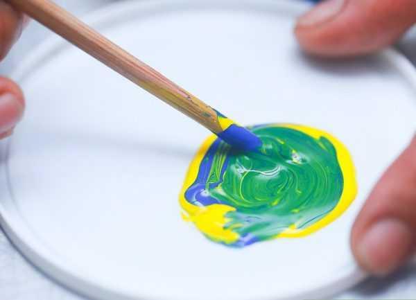 Способ получения цвета Лесная зелень