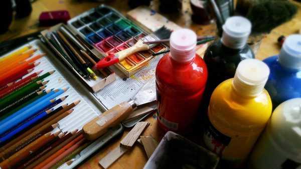 Получение угольного цвета в живописи