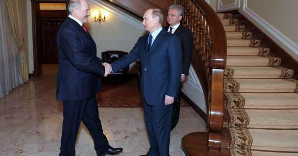 Президенты России и Белоруссии в Ново-Огарево