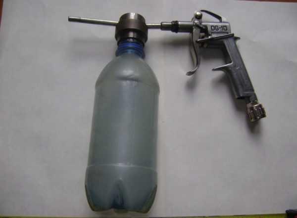 Прибор с резервуаром из бутылки