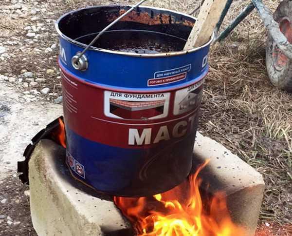 Разогрев мастики на огне