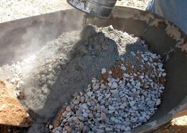 Приготовление цементного раствора с наполнителем