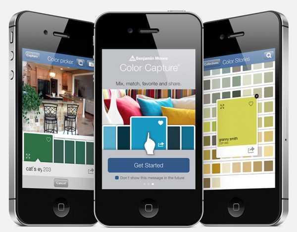 Приложение Color Capture для подбора цветов по цветовым картам Benjamin Moore