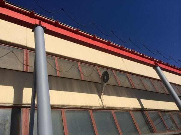 Окрашенный фасад здания