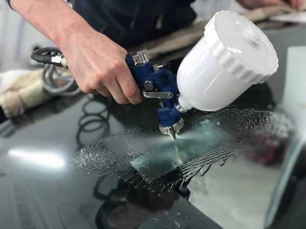Промывка дефекта на лобовом стекле