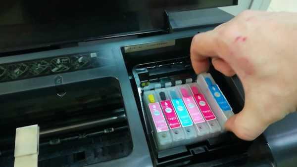 Промывка головки струйного принтера