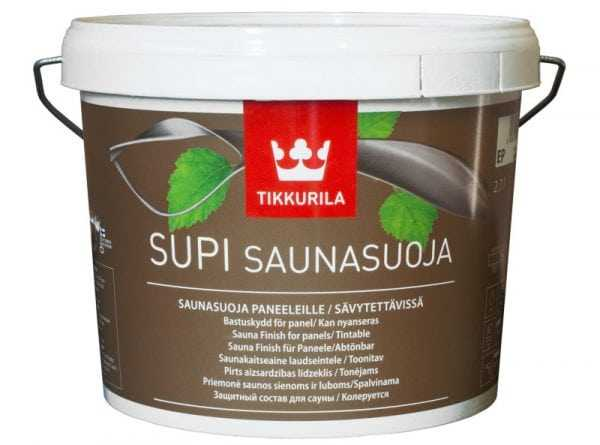 Пропитка «Supi Saunavaha» для обработки полок и скамеек в бане
