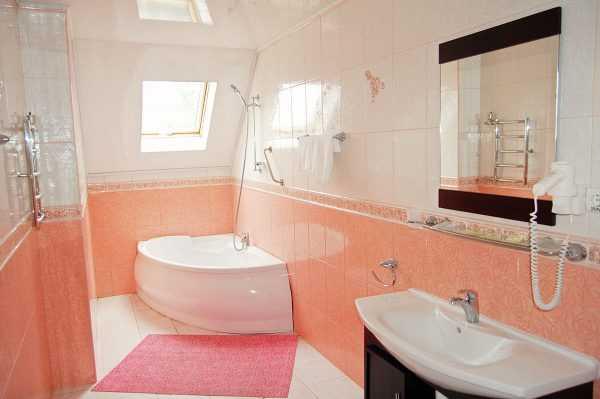 Расцветка стен в ванной комнате