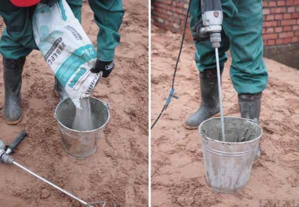 Приготовление клеевого раствора для ячеистого бетона