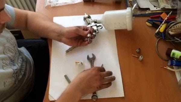 Ремонт краскопульта для устранения неполадок
