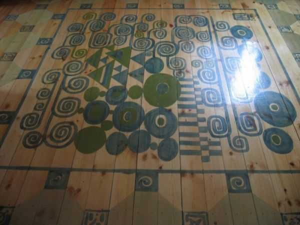 Роспись деревянных полов