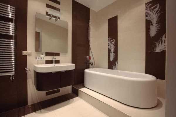 Дизайн ванны шоколадного цвета