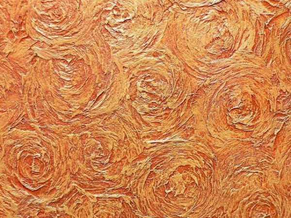 Создание цветов на стене с помощью шпаклевки