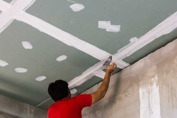 Шпаклевка потолка из ГКЛ
