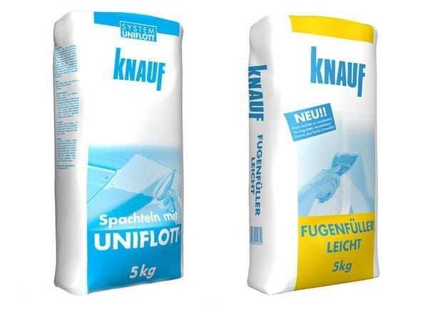 Шпаклевочные смеси Кнауф