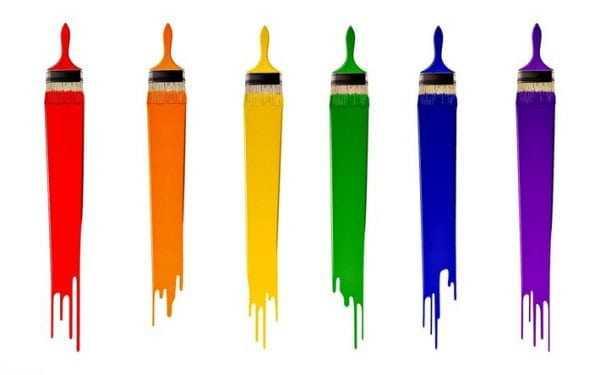 Силикатные краски разных цветов