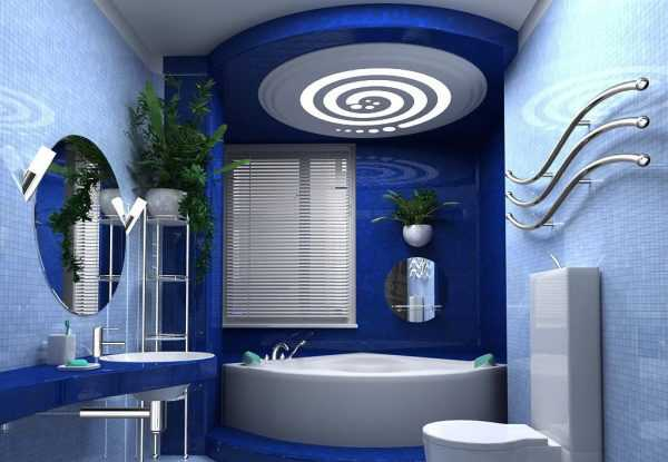 Синие тона в стиле хай-тек