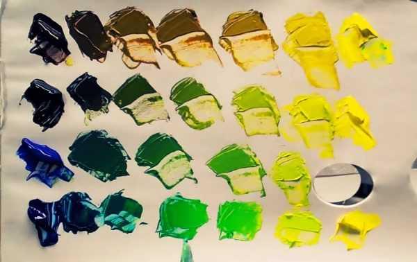 Смешение акриловых красок