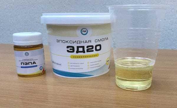 Смола ЭД-20 может применяться с разными типами отвердителей