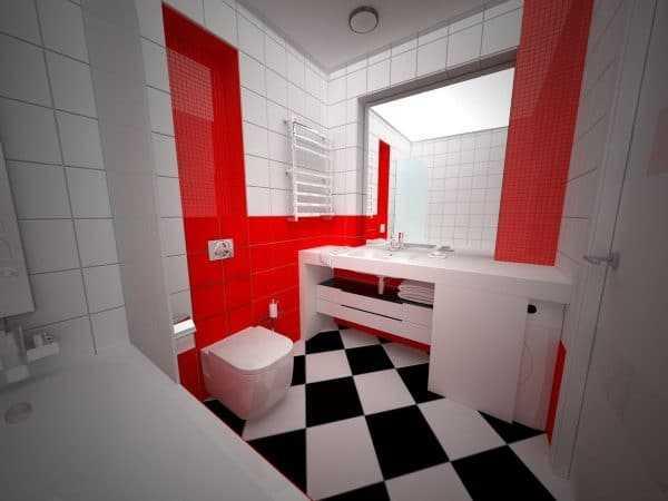 Сочетание с красным и черным