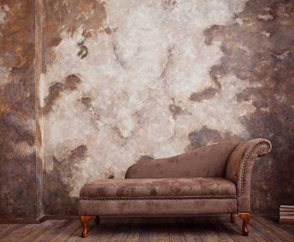 Создание рисунка на стене самодельной смесью