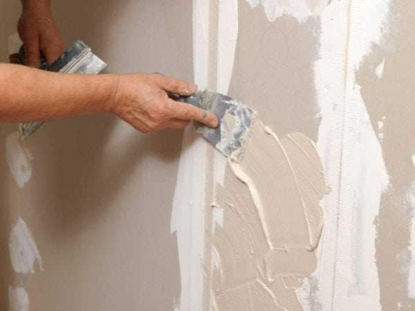 Шпатлёвка стены перед покраской