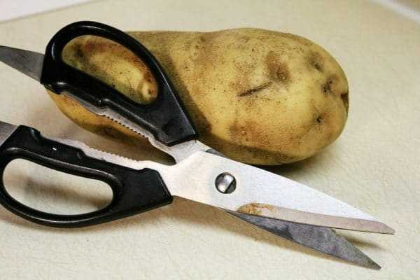 Ножницы и картофель