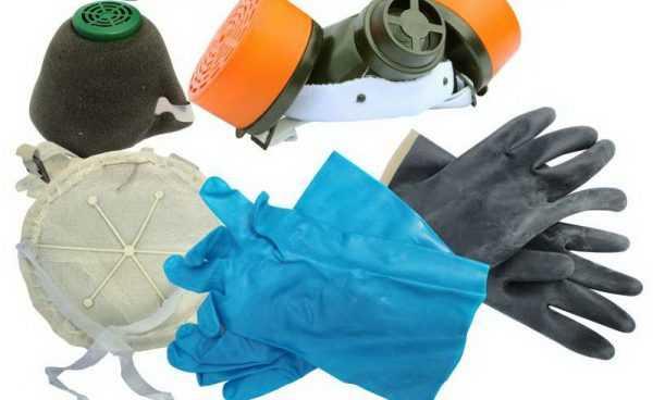 При работе с клеем следует использовать распиратор и перчатки
