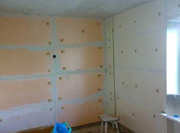 Утепление стен в квартире пенополистиролом