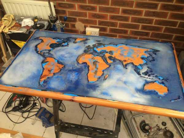 Светящийся стол Карта мира