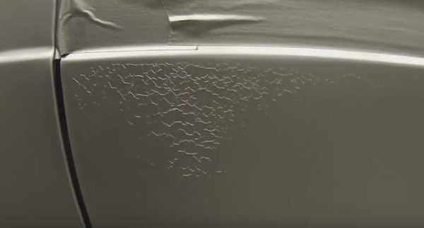 Сворачивание лакокрасочного покрытия