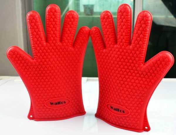 Термостойкие силиконовые перчатки для барбекю