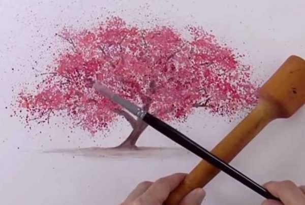 Рисунок набрызгом кистью