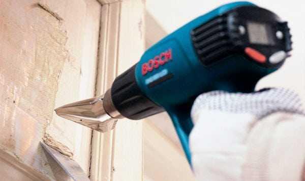 Удаления краски строительным феном