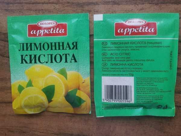 Удаление следов клея с помощью лимонной кислоты