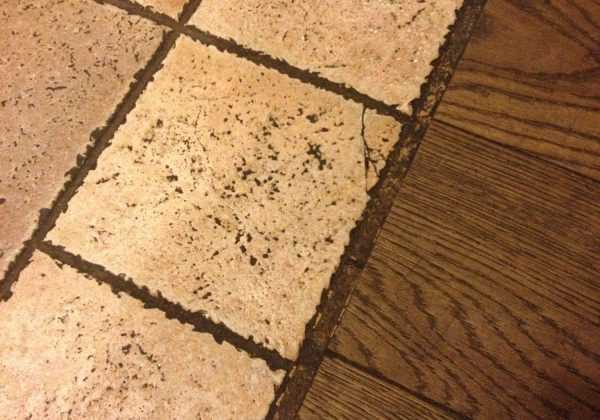 Устройство стыка между различными видами напольного покрытия