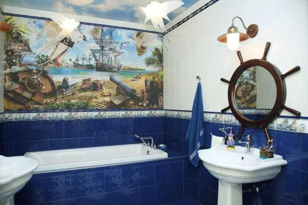 Морской стиль в ванной комнате