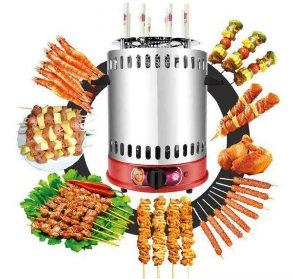 Вертикальная гриль-машина для приготовления шашлыка