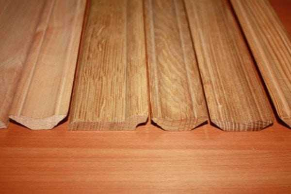 Виды деревянных плинтусов