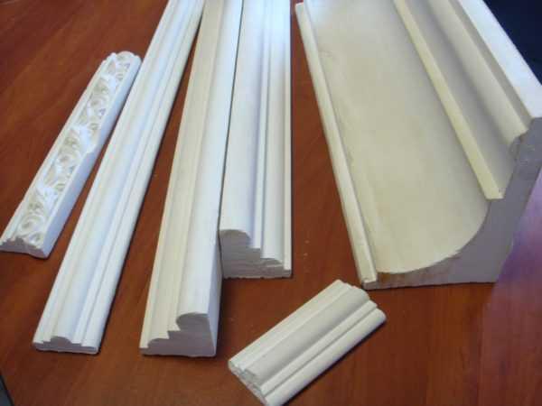 Виды потолочных багетов