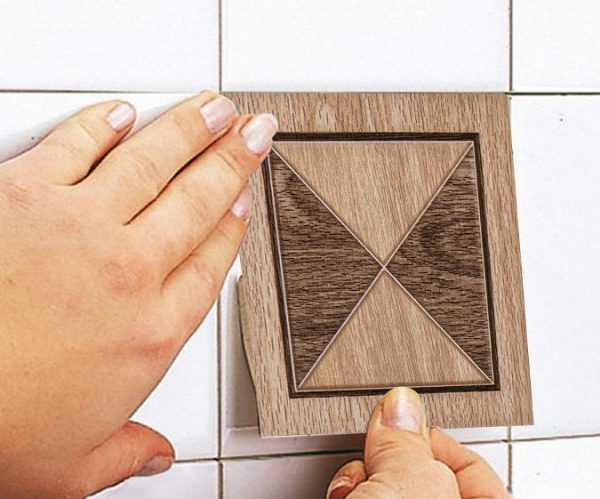 Наклейка на керамическую плитку