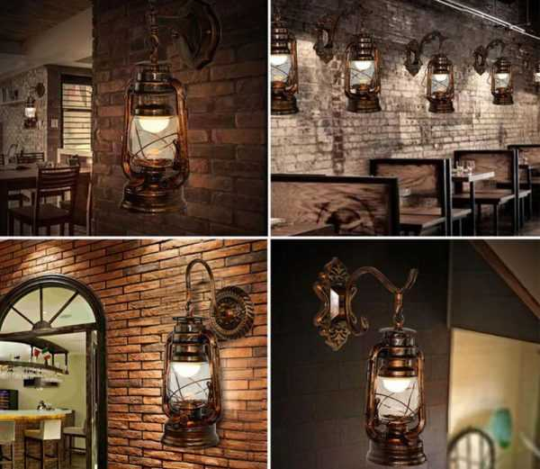 Винтажные настенные светильники под керосиновую лампу