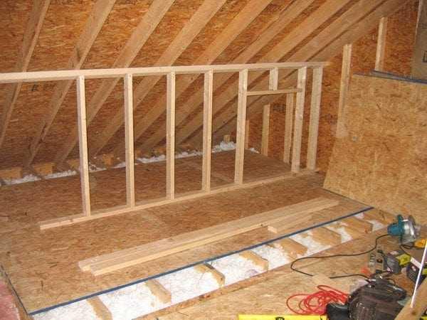 Внутренняя отделка помещения плитами OSB