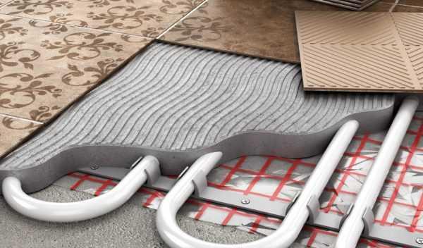 Водный теплый пол под плитку
