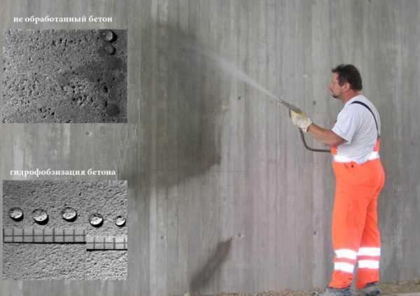 Гидрофобизация бетонной стены