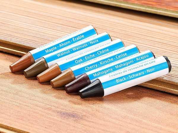 Восковые карандаши от царапин различных оттенков