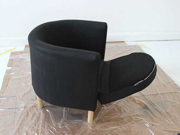 Высушить кресло после покраски