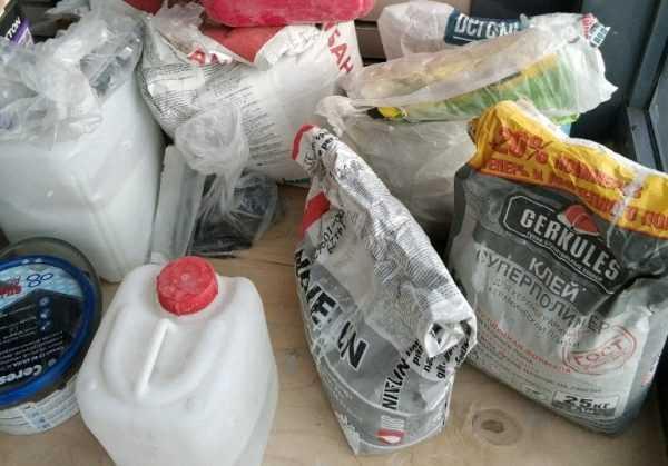 Хранение остатков плиточного клея